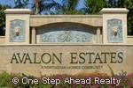 Avalon Estates community sign